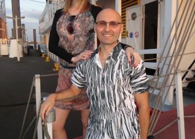 Der freundliche Empfang - Gastgeber Alex & René